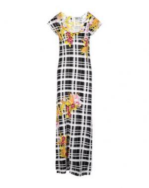 Длинное платье PINKO TAG. Цвет: черный