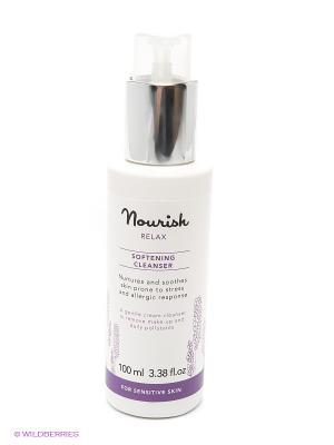 Очищающее молочко для чувствительной кожи лица Nourish Relax Softening Cleanser, 100 мл. Цвет: прозрачный