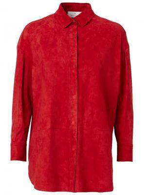 Рубашка с панельным дизайном Maison Ullens. Цвет: красный