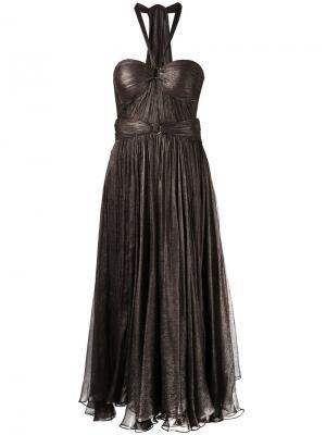 Драпированное платье Maria Lucia Hohan. Цвет: коричневый