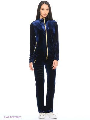 Спортивный костюм EZE. Цвет: темно-синий