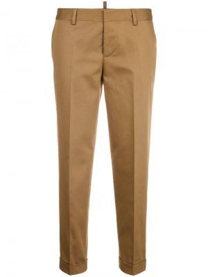 Cropped trousers Dsquared2. Цвет: коричневый