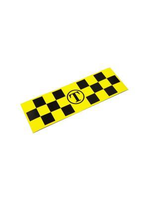 Такси-Магнит Для Притяжения Клиентов, 600Х100, Белый Оранжевый Слоник. Цвет: белый