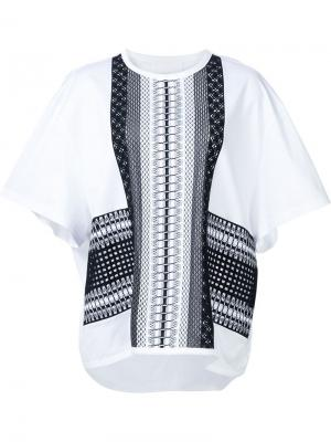 Oversized T-shirt Mame. Цвет: белый