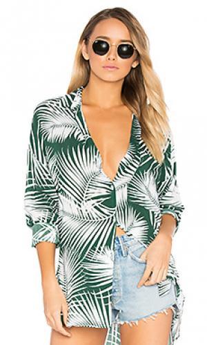 Рубашка для лаунджа leahi MIKOH. Цвет: темно-зеленый