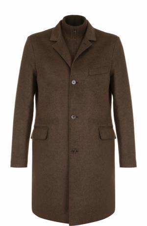 Однобортное кашемировое пальто с подстежкой Loro Piana. Цвет: коричневый