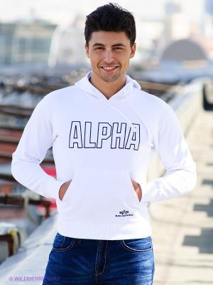 Свитшот Alpha Industries. Цвет: белый