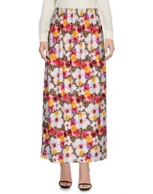 Длинная юбка JOE RIVETTO. Цвет: светло-серый