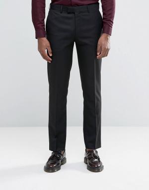 Harry Brown Черные брюки узкого кроя. Цвет: черный