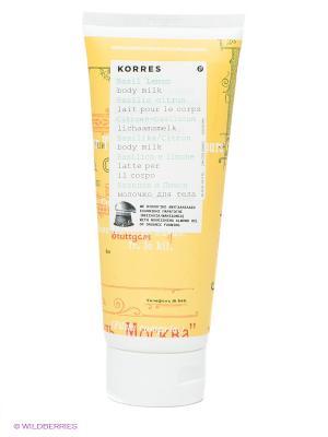 Молочко для тела - базилик и лимон 200 мл Korres. Цвет: прозрачный