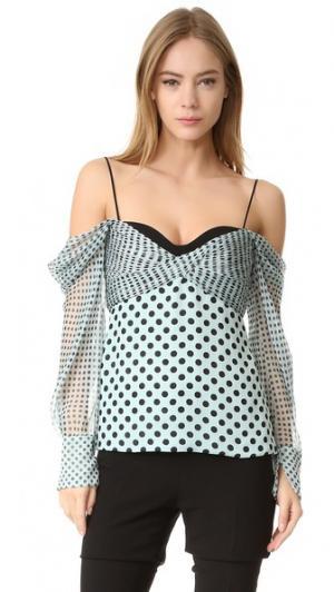 Блуза с корсетной J. Mendel. Цвет: мятный/черный