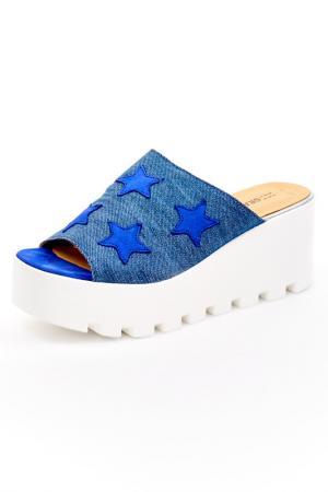 Сабо Grand Style. Цвет: джинса, синий