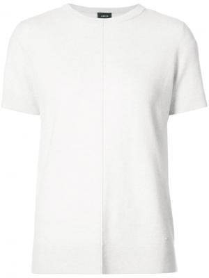 Тонкая трикотажная футболка Akris. Цвет: серый