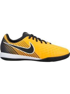 Бутсы JR MAGISTAX ONDA II IC Nike. Цвет: оранжевый, черный