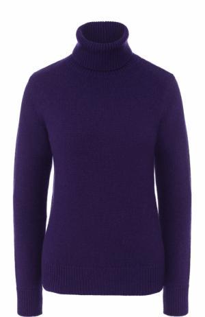 Однотонный кашемировый свитер Ralph Lauren. Цвет: фиолетовый