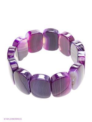 Браслет Красота Природы. Цвет: фиолетовый, прозрачный, сиреневый