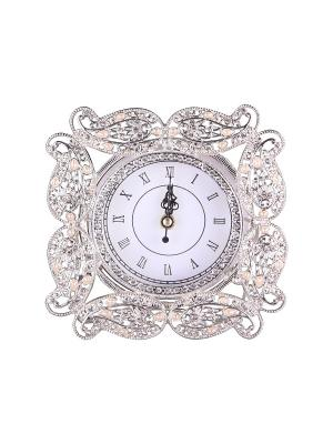 Часы декоративные 17*17 см. PATRICIA. Цвет: серебристый