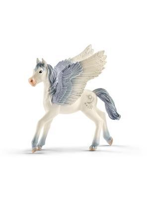 Эльфы. Пегас, жеребенок SCHLEICH. Цвет: серый, белый, серебристый