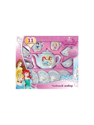 Набор посуды принцессы Играем вместе. Цвет: белый, розовый