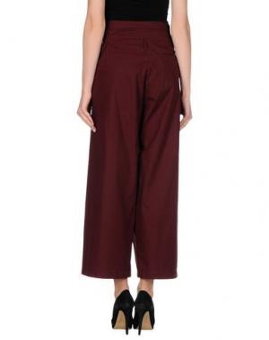 Повседневные брюки RE.SET. Цвет: красно-коричневый