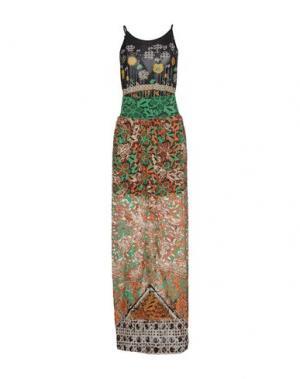 Длинное платье F**K PROJECT. Цвет: зеленый