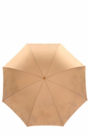 Зонт-трость с цветочным принтом Pasotti Ombrelli. Цвет: бежевый