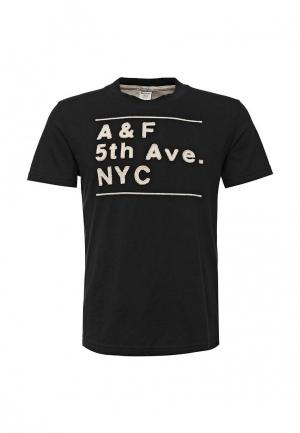 Футболка Abercrombie & Fitch. Цвет: черный
