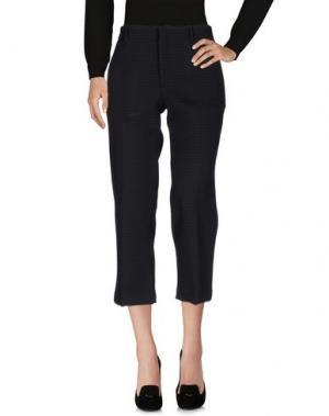 Повседневные брюки LABORATORIO. Цвет: стальной серый