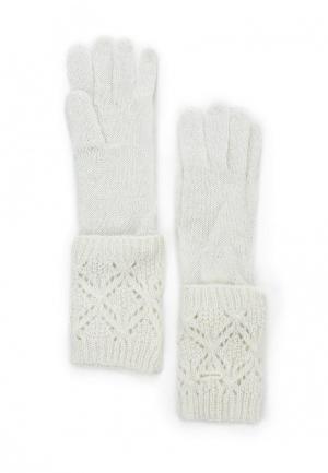 Перчатки oodji. Цвет: белый