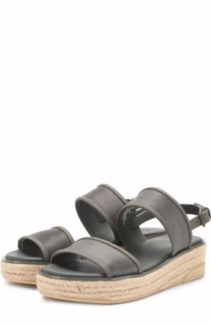 Текстильные сандалии Shana на джутовой подошве DKNY. Цвет: зеленый