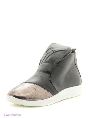 Ботинки Donna Ricco. Цвет: черный, серебристый