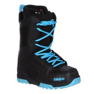 Ботинки для сноуборда  Exit Black/Blue Thirty Two. Цвет: черный,синий