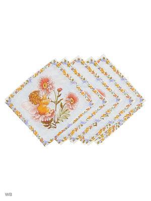 Набор платков носовых детских Римейн. Цвет: голубой, розовый