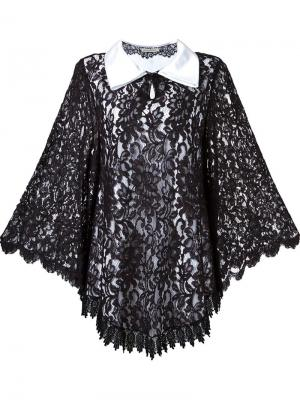 Lace overlay dress Martha Medeiros. Цвет: чёрный
