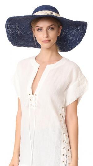 Плетеная шляпа Playa Artesano. Цвет: голубая сталь/телесный