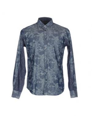 Джинсовая рубашка GREY DANIELE ALESSANDRINI. Цвет: синий