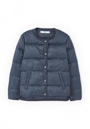 Куртка утепленная Mango. Цвет: синий