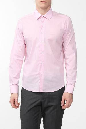 Рубашка Karflorens. Цвет: розовый, микрополоска
