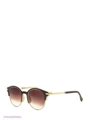 Солнцезащитные очки Vittorio Richi. Цвет: коричневый, бежевый