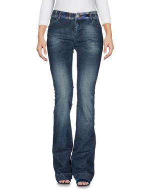 Джинсовые брюки KRISTINA TI. Цвет: синий