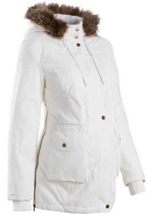 Мода для беременных: куртка с капюшоном (кремовый) bonprix. Цвет: кремовый