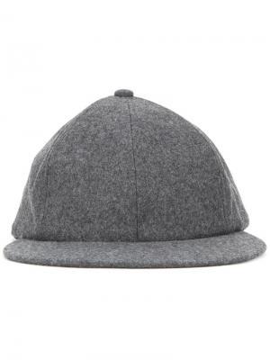 Фланелевая кепка Kijima Takayuki. Цвет: серый