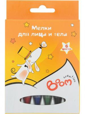 Мелки 06 цветов для рисования на лице и теле BOOM.. Цвет: оранжевый