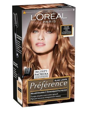 Стойкая краска для волос Preference, Глэм Лайт, мелирования, оттенок 3, 138 мл L'Oreal Paris. Цвет: светло-бежевый