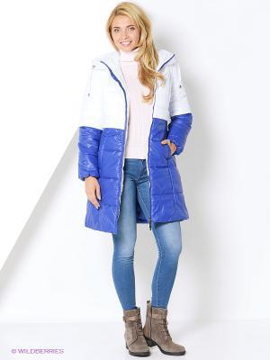 Пальто DizzyWay. Цвет: белый, синий