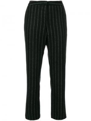 Укороченные брюки в тонкую полоску Fabiana Filippi. Цвет: чёрный