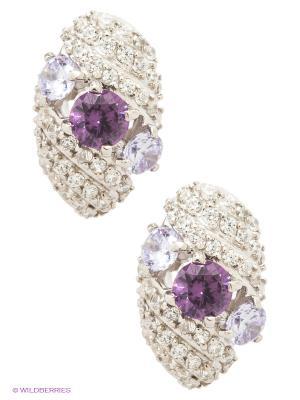 Серьги Lovely Jewelry. Цвет: серебристый, сиреневый