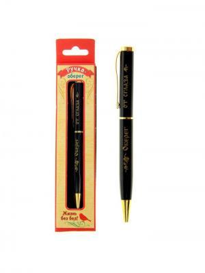 Ручка шариковая Bizon. Цвет: черный