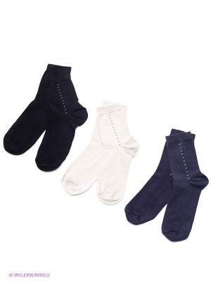 Носки детские, 3 пары БРЕСТСКИЕ. Цвет: черный, темно-серый, бежевый