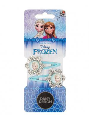 Набор заколок для волос Снежинки Daisy Design. Цвет: голубой